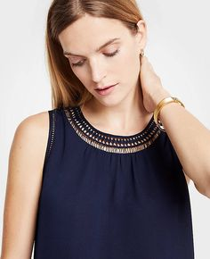 Shop Ann Taylor for effortless style and everyday elegance. Our Diamond Lace Inset Shell is the perfect piece to add to your closet. Lace Inset, Fall Photos, Ann Taylor, Fashion Outfits, Clothes For Women, Elegant, Tank Tops, Diamond, My Style