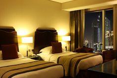 Sky Classic Twin Room. For reservations: Phone: +97143230111, Fax: +97143230222 E-mail: marketing.rose@rotana.com Web: http://www.rotana.com/roserayhaanbyrotana