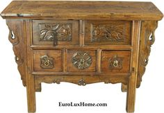 Chest of Drawers Late Qing Dynasty Deer Scrolling Clouds Running Horses B Chinese Table, Chinese Cabinet, Vintage Furniture, Furniture Decor, Running Horses, Oriental Furniture, Qing Dynasty, Architectural Elements, Chest Of Drawers
