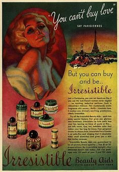 from the Ad Access collection at Duke University. All of them highlight Irresistible, a now-defunct fragrance and makeup brand from the 1930...