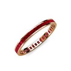 PERFECT!! Rose gold, bagette or square rubies, full eternity band