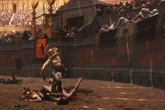 Pollice Verso (Gérôme) - Wikipedia, the free encyclopaedia: Inspiration for Gladiator, just this image got Ridley Scott hooked.