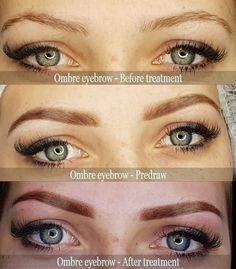 Ombre eyebrows semi permanent makeup tattoo 🤫👍💪 Look at these pictures! Before-Predraw-After ❤️🧡💛 Permanent Makeup Eyebrows, Semi Permanent Makeup, Semi Permanent Tattoo, Eyebrow Makeup, Eyeliner, Eyebrow Before And After, Makeup Tattoos, Ear Piercings, About Me Blog