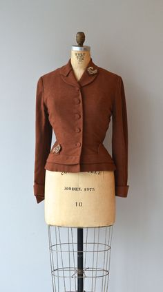 Welsh Hall wool jacket vintage 1950s jacket fitted by DearGolden