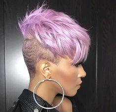 Hairstyles For Men .Hairstyles For Men Dope Hairstyles, My Hairstyle, Pretty Hairstyles, One Side Shaved Hairstyles, Black Short Hairstyles, Short Sassy Hair, Short Hair Cuts, Short Hair Styles, Edgy Hair