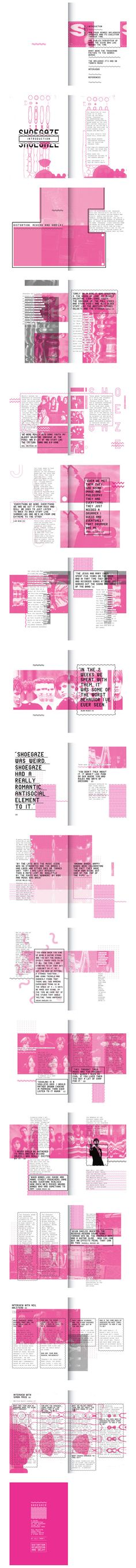 Distortion Reverb and Delay // Shoegaze Fanzine on Behance