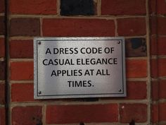 Dress code of Casual Elegance