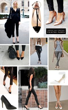 Pointed toe pumps are hot for Spring 2013.