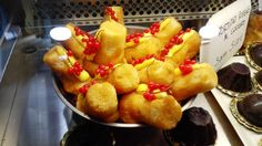 """The """"babà"""", typical Italian pastries at the Chocolate Festival in Chocolate Festival, Italian Pastries, Southern Italy, French Toast, Breakfast, Ethnic Recipes, Food, Morning Coffee, Meal"""
