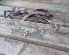 Silver Greek Goddess Hippie style halo tie by LittleSparrowBows, $10.00 #littlesparrowbows