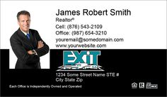 Exit Realty Business Cards With Accreditatitons
