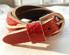 High Fashion Leather belt bracelet