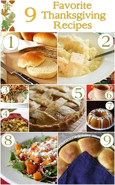 9 Favorite Thanksgiving Recipes