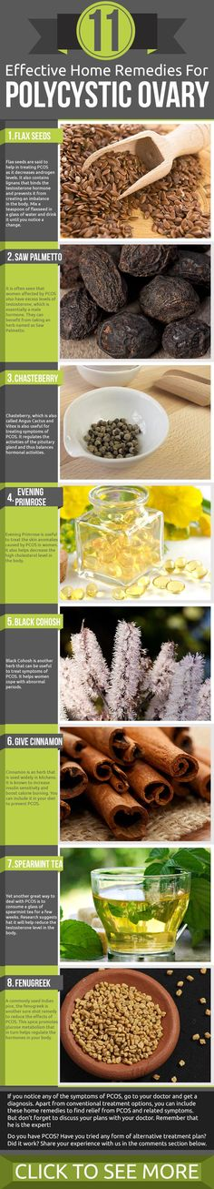 """Effective Home Remedies for PCOS! Infographic: """"As women age, various genetic and ..."""" Read more here!"""