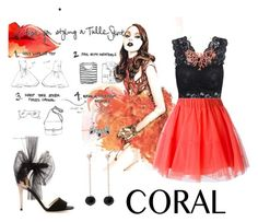 """""""Tulle Coral"""" by alolika-chk ❤ liked on Polyvore featuring мода, Meriko, P.A.R.O.S.H. и Humble Chic"""