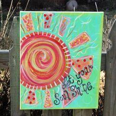 Let your soul shine original art on 16 x 20 by cottageartshop, $40.00
