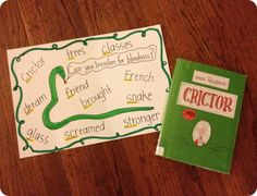 Teaching Beginning Consonant Blends - use Crictor by Tomi Ungerer