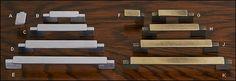 Poignées et boutons Passerelle - Quincaillerie