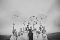 rainy wedding, fun.