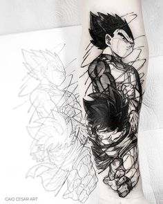 Black Tattoos, Small Tattoos, Tattoos For Guys, Cool Tattoos, Cartoon Tattoos, Anime Tattoos, Z Tattoo, Forearm Tattoo Design, Inked Magazine