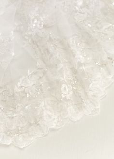 One Tier Heavily Embellished Cathedral Veil VL7746ZHN39B