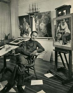 Norman Rockwell, 1956 photograph by Yousuf Karsh (Canadian born in Turkish Armenia,