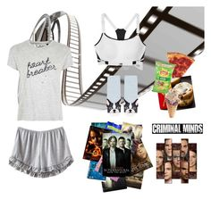 """""""LAZY DAY"""" by niallslaughiscute ❤ liked on Polyvore featuring Victoria's Secret, Tee and Cake and Topshop"""