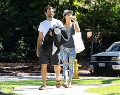 Pin for Later: Alessandra Ambrosio Shows You How a Couple That Does Yoga Together Stays Together