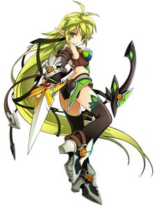Aha yes! I'm finally a Trapping Ranger on Elsword! Game Character Design, Character Concept, Character Art, Character Creation, Manga Characters, Fantasy Characters, Female Characters, Elsword Online, Anime Elf