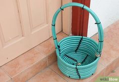 Make a Basket from a Garden Hose Step 1 - cool idea for house warming gift basket.
