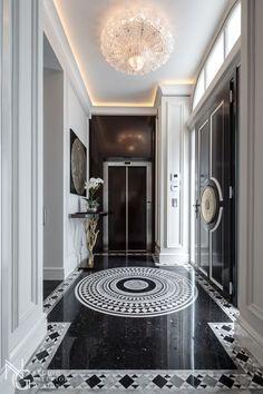 Villa la rotonde's Hallway by NG-studio interior design . Studio Interior, Best Interior, Luxury Interior, Home Interior Design, Floor Design, Tile Design, House Design, Luxury Apartments, Luxury Homes