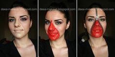 Halloween Make-up - Unzipped face  http://deea-makeup.blogspot.ro/2011/10/halloween-make-up-unzipped-face.html