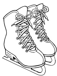 Slip and slide on the ice with this picture of some girls' ice skates! The Big Birthday Calendar Book Large print adult coloring books More coloring pages you might like Letter C Coloring Pages, Shark Coloring Pages, Printable Coloring Pages, Coloring Pages For Kids, Coloring Sheets, Colouring, Adult Coloring, Coloring Books, Templates Printable Free