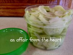 an affair from the heart: Refrigerator Pickles