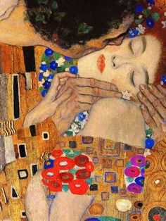 "Klimt's ""The Kiss"" - the one I love, & always so exquisite to me!                                                                                                                                                                                 More"