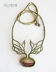 Items similar to Tree branches necklace, handmade magical native choker, green rustic macrame necklace, tree roots elven necklace on Etsy Collar Macrame, Macrame Colar, Macrame Necklace, Macrame Knots, Macrame Jewelry, Lariat Necklace, Collar Necklace, Diy Jewelry, Jewelery