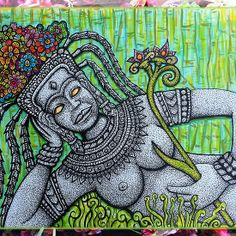 Garden Goddess available on cards, posters and prints.   Check out all my products at: http://www.redbubble.com/people/chongolio/works/11455642-garden-goddess?p=greeting-card