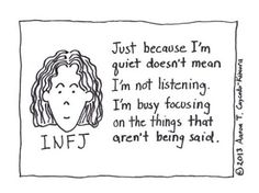 INFJ - I can't believe I stumbled upon this pin. We INFJ's are so rare. Infj Mbti, Intj And Infj, Infj Type, Enfj, Myers Briggs Personalities, 16 Personalities, Infj Personality, Funny Cartoons, Feelings
