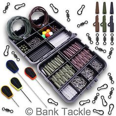 Carp fishing box lead clips swivels baiting needles rigs, View more on the LINK: www. Pike Fishing Tips, Carp Fishing Tackle, Fishing Rigs, Fishing Bait, Fishing Knots, Fishing Stuff, Coarse Fishing, Terminal Tackle, Big Fish