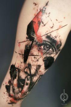 Bajo la Piel - Ink on Sky Badass Tattoos, Leg Tattoos, Arm Band Tattoo, Body Art Tattoos, Cool Tattoos, Tatoos, Sleeve Tattoos For Women, Tattoos For Guys, Tatuagem Trash Polka