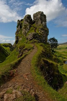 The Crag at Fairy Glen ~ Isle of Skye, Scotland