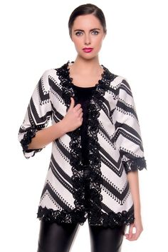 Darcy Chevron Stripe Kimono Jacket Kimono Jacket, Striped Jacket, Summer 2016, Summer Collection, Chevron, Blouse, Jackets, Tops, Women