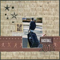 2012 Baseball layout by Carolyn Lontin