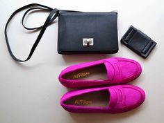 Pomy Fuschia, #Chou, Porte-monnaie nœud plat #maroquinerie #mocassin #summer #fashion #shoes