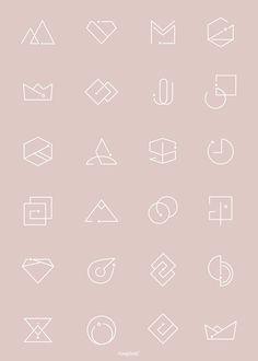 how do html color codes work Minimal Logo Design, Minimalistic Logo, Hexagon Logo, Square Logo, Round Logo, Geometric Logo, Icon Design, Design Set, Vector Design