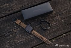 High-End Leather Straps for Apple Watch. ▫️www.bullstrap.co Apple Watch Leather Strap, Apple Watch Iphone, Iphone Leather Case, Apple Watch Bands, Other Accessories, Iphone Cases, Mens Fashion, Wallet, Watches