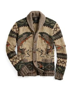 Welcome to the world of Ralph Lauren. Hippie Style, Cowichan Sweater, Knit Cardigan, Cardigan Design, Sweater Outfits, Men Sweater, Ralph Lauren Style, Mens Fashion, Fashion Outfits