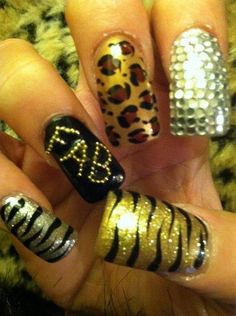 "multi themed nails from Olivia of ""Jerseylicious"""
