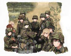 Fascist-Anime on DeviantArt Anime Military, Military Girl, Manga Art, Manga Anime, Anime Art, Comic Pictures, Manga Pictures, Guerra Anime, Anime Krieger