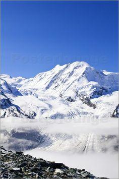 Monte Rosa Massif Valais from Gronergrat